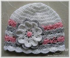 Jarní háčkované čepičky - Praha - západ, inzerce, prodám Crochet Baby Hat Patterns, Crochet Baby Beanie, Crochet Kids Hats, Crochet Beanie Pattern, Crochet Cap, Crochet Gifts, Crochet Scarves, Crochet Stitches, Knitting Patterns