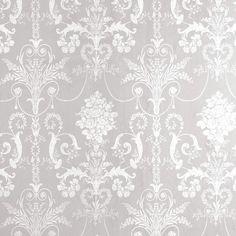 wallpaper JOSETTE DOVE GREY Laura Ashley Baroque Wallpaper, Grey Damask Wallpaper, Grey And White Wallpaper, Bedroom Wallpaper, Office Wallpaper, Victorian Wallpaper, Beautiful Wallpaper, Motif Baroque, Chinoiserie