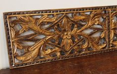 Old Gold Painted Carved Teak Panel 129 | Gado Gado : indonesian doors - pezcame.com
