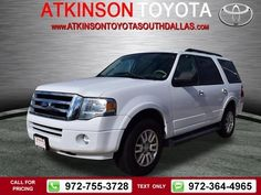 2011 Ford Expedition XLT White Call for Price 36120 miles 972-755-3728  #Ford #Expedition #used #cars #AtkinsonToyotaSouthDallas #SouthDallas #TX #tapcars