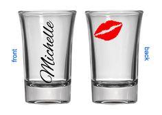 Wonderful Girly Shot Glass   Barware Shot Glass   Customized Barware   Personalized  Shot Glass   Lips