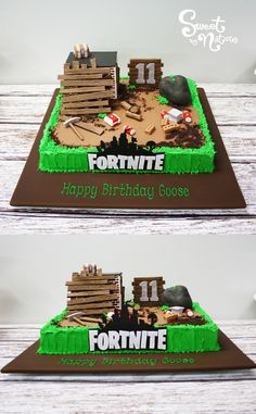 Goose turned 11 and celebrated with this Fortnite themed birthday cake Birthday Cakes For Teens, 10th Birthday Parties, Themed Birthday Cakes, Birthday Fun, Birthday Party Themes, Birthday Cakes For Boys, 14th Birthday Cakes, Birthday Ideas, Fête Jurassic Park