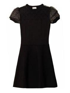 Star-tulle knit dress