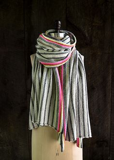 Ticking Stripe Wrap - a free knitting pattern by Purl Soho.
