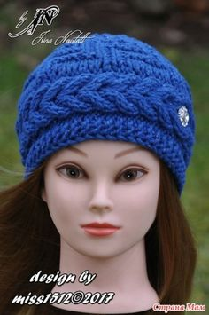 """.""""Бриллиант"""" - шапка спицами себе. Мой дизайн + схема + описание - В.Г.У. - Вязаные Головные Уборы - Страна Мам Baby Hat Knitting Pattern, Knitting Patterns, Knit Crochet, Crochet Hats, Crochet Tablecloth, Mitten Gloves, Baby Hats, Beanie Hats, Hats For Women"""