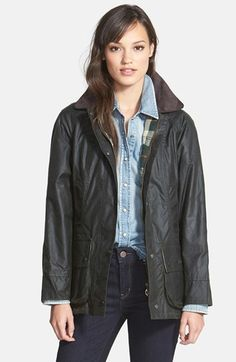 Barbour 'Beadnell' Waxed Cotton Jacket -- On SALE!