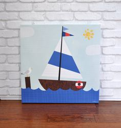 Sail Away  Canvas Wall Art by VickyBaroneDesigns on Etsy, $139.00