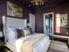 Master Bedroom Oasis livable luxe master bedroom in special gray / walls - snowbound