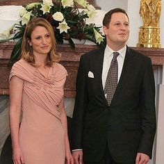 Prince Georg Friedrich of Prussia, current head of the House of Hohenzollern, and Princess Sophie of Isenburg.