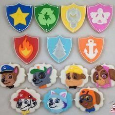 Paw Patrol cookies featuring their newest member Everest! #pawpatrolcookies
