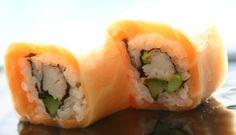 Daikon salmon roll