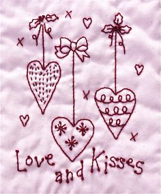 valentines heart embroidery pattern