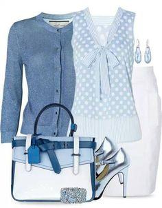 Tasche und Bluse