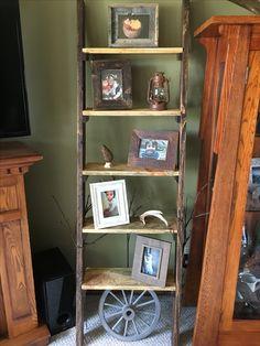 Ladder Shelf made from old pallet wood