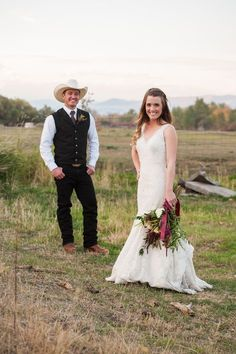 This October wedding has our hearts. from the gorgeous setting to the adorable newlywed canoe ride, or the stunning florals to the bridal . Country Wedding Groom, Our Wedding, Dream Wedding, Cowboy Groomsmen, October Wedding, Newlyweds, Bride Groom, Cali, Montana