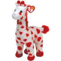 TY Beanie Baby Smoothie Red and White Giraffe