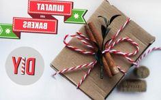 станет отличным украшением подарочной упаковки. Сюда можно добавить ягоды, палочки корицы, шишки, перышки, всё, что посчитаете нужным.