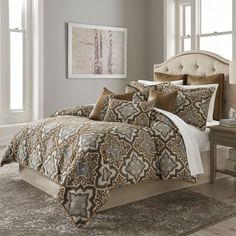 Shop for Porter Saddle King Comforter Set. Get free delivery On EVERYTHING* Overstock - Your Online Fashion Bedding Store! Luxury Comforter Sets, Queen Comforter Sets, Online Bedding Stores, Rustic Bedding, Affordable Bedding, Bed Styling, Fashion Room, Bed Sizes, Comforters