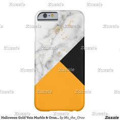 Halloween Gold Vein Marble & Orange Barely There iPhone 6 Case