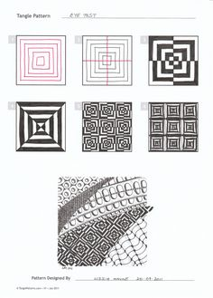 tangle pattern eye test step out