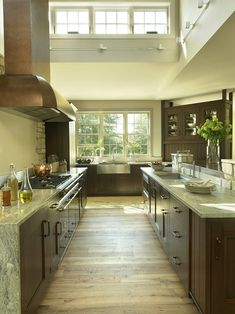 Kitchen Cabinet Stains with Red Stained Cabinets Wood Floor Counters