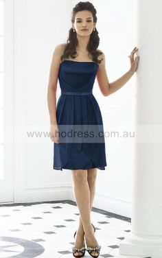 Sleeveless Zipper Strapless Knee-length Chiffon Formal Dresses b140510