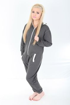 9f3e37064a Kids onesie GREY colour with WHITE ACCENT suitable for girls and boys 50  cotton 50 Polyester