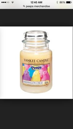 Yankee candle with the scent to peeps!!