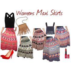 boho chic: Womens Dresses Womens Maxi Skirts, Long Maxi Skirts, 3.1 Phillip Lim, Kaftan, Boho Chic, Christian Louboutin, Summer Dresses, Polyvore, Fashion