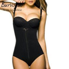 1714773b3 Burvogue Clips or Zip Full Body Shaper Women Waist Trainer Slimming  Shapewear Butt Lifter Tummy Control