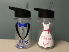 Ring Bearer Gift Flower Girl Gift  Wedding Party  by VtoYouDesigns