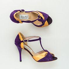 Comme il Faut Women's Tango Shoes - Violeta y mostaza - size 34 (US4) heel 8