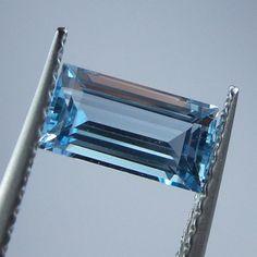 0.9 Carat Natural Aquamarine 8x4.2x3.6 mm Rectangle Cut Stone #AquamarineTraders