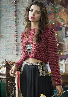Ravelry: #12 Cropped Pullover pattern by Annabelle Speer