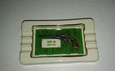 Vintage Ceramic Colt 44 Model 1860 Ashtray B&b Usa