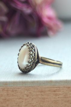 Ivory Pearl Ring  @Keri Whaitiri Whaitiri Whaitiri Whaitiri Murphy   what about this one? lol