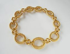 Givenchy Gold Tone Massive Link by RockArtemisVintage on Etsy