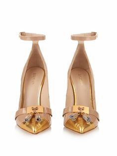 Balmain Lena tassel-front leather pumps