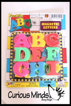 Magnetic Alphabet Only