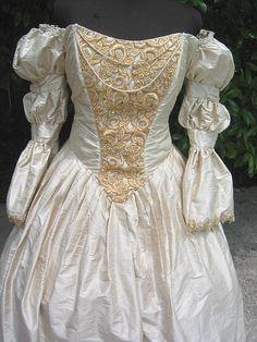 "Vintage Victorian Wedding Dress  Original Princess Dress, like from ""Tangeled"""