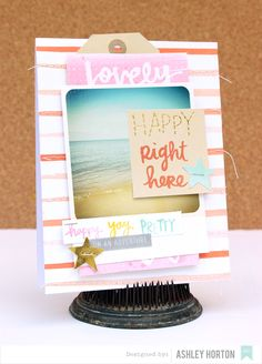 Happy Right Here - Scrapbook.com - Card made with American Crafts Finders Keepers collection by Amy Tangerine