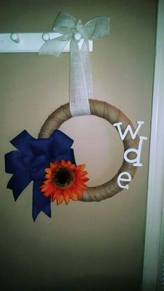 This is one of the newest Auburn Wreaths I've made!! You can order it and look at my shop at https://www.etsy.com/listing/209482664/auburn-fall-wreath