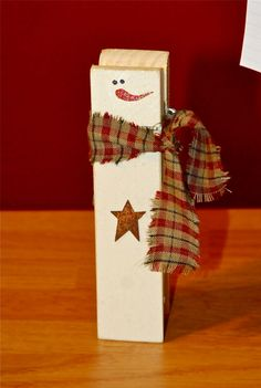 Snowman clothes pin.....lots of crafts ideas on this site.
