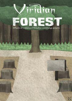 Pokemon Viridian Forest Travel Poster