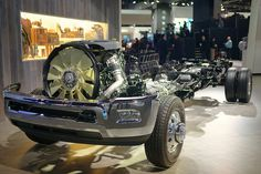 RAM Truck Chasis and Engine, via Flickr. #detroitautoshow #naias