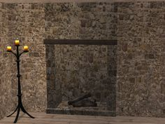 Click to see full size image Sims 2, Middle Ages, Hearth, Plumbing, Appliances, Image, Log Burner, Gadgets, Home