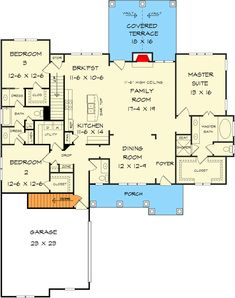 Attractive Four Bedroom Craftsman House Plan - floor plan - Basement Stair Location - I would make all of the room's larger, but the floor plan is great! Cottage Style House Plans, Dream House Plans, House Floor Plans, Farm House, Tumblr Rooms, Outdoor Kitchen Design, Bedroom Layouts, River House, Home Decor Bedroom