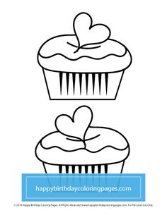 FREE Cupcake Coloring Page – Happy Birthday Coloring Pages Cupcake Coloring Pages, Happy Birthday Coloring Pages, Turtle Coloring Pages, Cars Coloring Pages, Dog Coloring Page, Pokemon Coloring Pages, Christmas Coloring Pages, Animal Coloring Pages, Free Printable Coloring Pages
