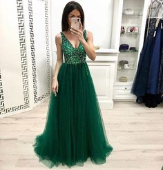 Long Prom Dress With Beading 8th Graduation Dress Custom-made School D – YourDressTailor