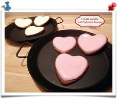 Imparare l'Arte della Cucina Quotidiana: Ginger cookies with Valentine frosting